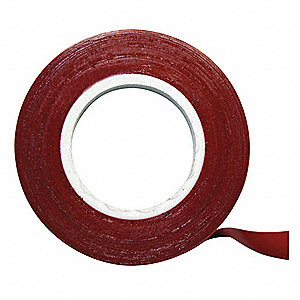 Chart Tape,1/4 In W x 27 Ft L,Red
