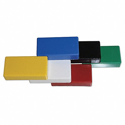 38Y335 - Ceramic Magnets Rectangle Assorted PK6