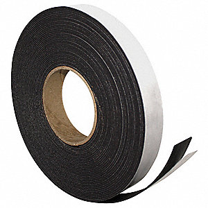 Adhesive Magnetic Strip, 4ft L x 1in W