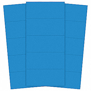 "Blue Magnetic Strips, 6"" Width, 7/8"" Height, 25 PK"