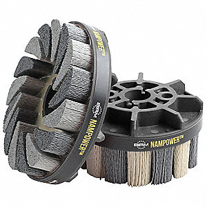 Abrasive Nylon Brush,100mm  D,320 Grit
