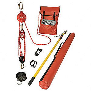 Rescue System w/ BackUp Brk,Cable 25 ft