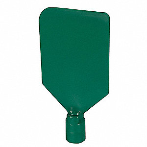 Paddle Scraper,4-1/2 x 6 in,Nylon,Green