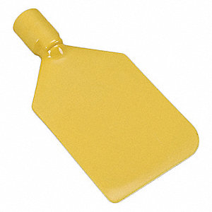 Paddle Scraper,Flex,4-1/2 x6,Poly,Yellow