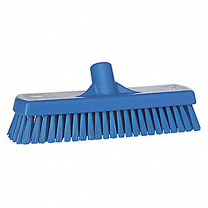 "12""L Polyester Replacement Brush Head Deck Brush, Blue"