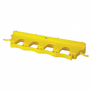 Tool Wall Bracket,Poly,Yellow,17-1/2 in