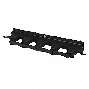 Tool Wall Bracket,Poly,Black,17-1/2 in