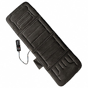 Polyester with Foam Interior Massage Mat, Charcoal