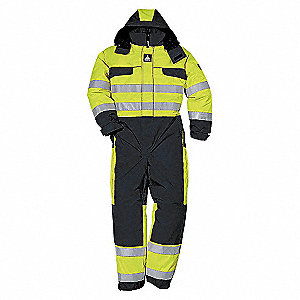 COVERALL WINTER HI-VIS YLW/BLK-S