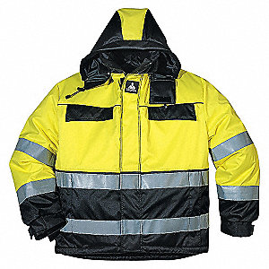 JACKET WINTER HI-VIS YLW/BLK-2XL