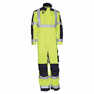 COVERALL FR HI-VIS YLW/NVY-2XL