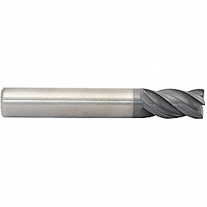 "Corner Radius End Mill, 3/4"" Milling Dia., Number of Flutes: 4, 1-5/8"" Length of Cut, TiAlN"