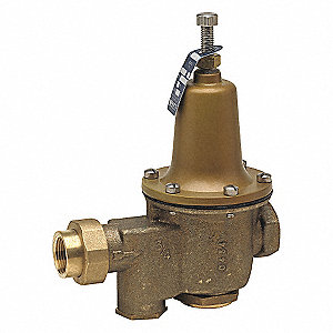 Water Press Reducing Valve,1-1/4in,50psi