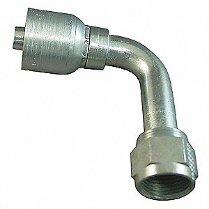 Hose Fitting,Fem Swivel,90Deg,3/4in,-12