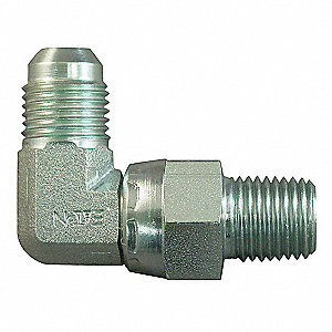 NMPT to MJIC 90° Elbow Hydraulic Hose Adapter