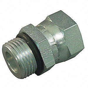 FJIC to MORB Straight Hydraulic Hose Adapter