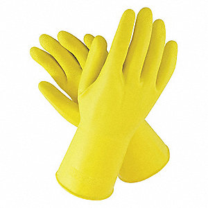 "Chemical Resistant Gloves, Size S, 12""L, Yellow ,  12 PK"