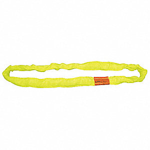 "18 ft. Endless - Type 5 Round Sling, 1-1/8"" Diameter, Color Code: Yellow, Polyester"