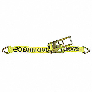 "Tie Down Strap, 27 ft.L x 3""W, 5000 lb. Load Limit, Adjustment: Ratchet"