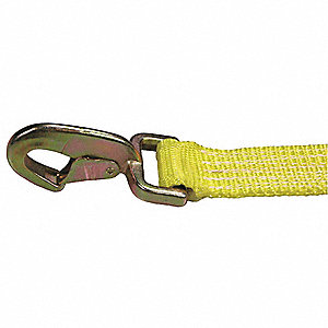 "Tie Down Strap, 30 ft.L x 2""W, 1600 lb. Load Limit, Adjustment: Ratchet"