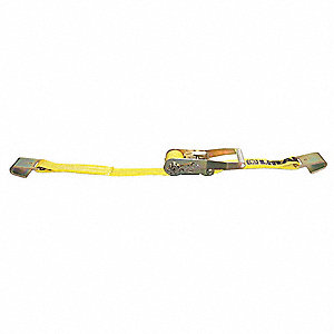 "Tie Down Strap, 30 ft.L x 2""W, 3300 lb. Load Limit, Adjustment: Ratchet"