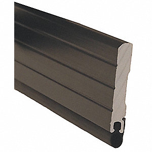 Door Frame Weatherstrip,Hollow Bulb,Blk