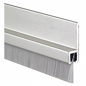 Door Frame Weatherstrip,Brush Insert,9ft