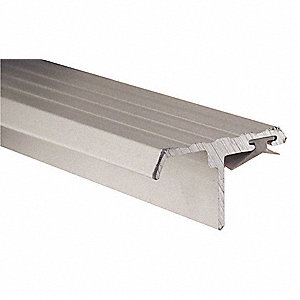 Double Door Weatherstrip,Vinyl,7ftL,Gra
