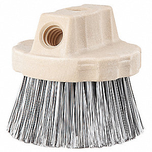"Brush Head,4-1/4"" L,Black, White"