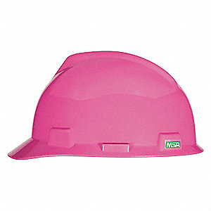 Front Brim Hard Hat, 4 pt. Pinlock Suspension, Hot Pink, Hat Size: 6-5/8 to 7-3/4