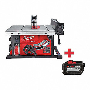 "Cordless Table Saw Kit,  8 1/4 in Blade Dia.,  5/8"" Arbor Size,  Max. Blade Speed 6300 RPM"