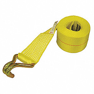 "Winch Strap, 30 ft.L x 3""W, 5000 lb. Load Limit, Adjustment: Winch (Not Included)"
