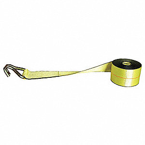 "Winch Strap, 27 ft.L x 3""W, 5000 lb. Load Limit, Adjustment: Winch (Not Included)"