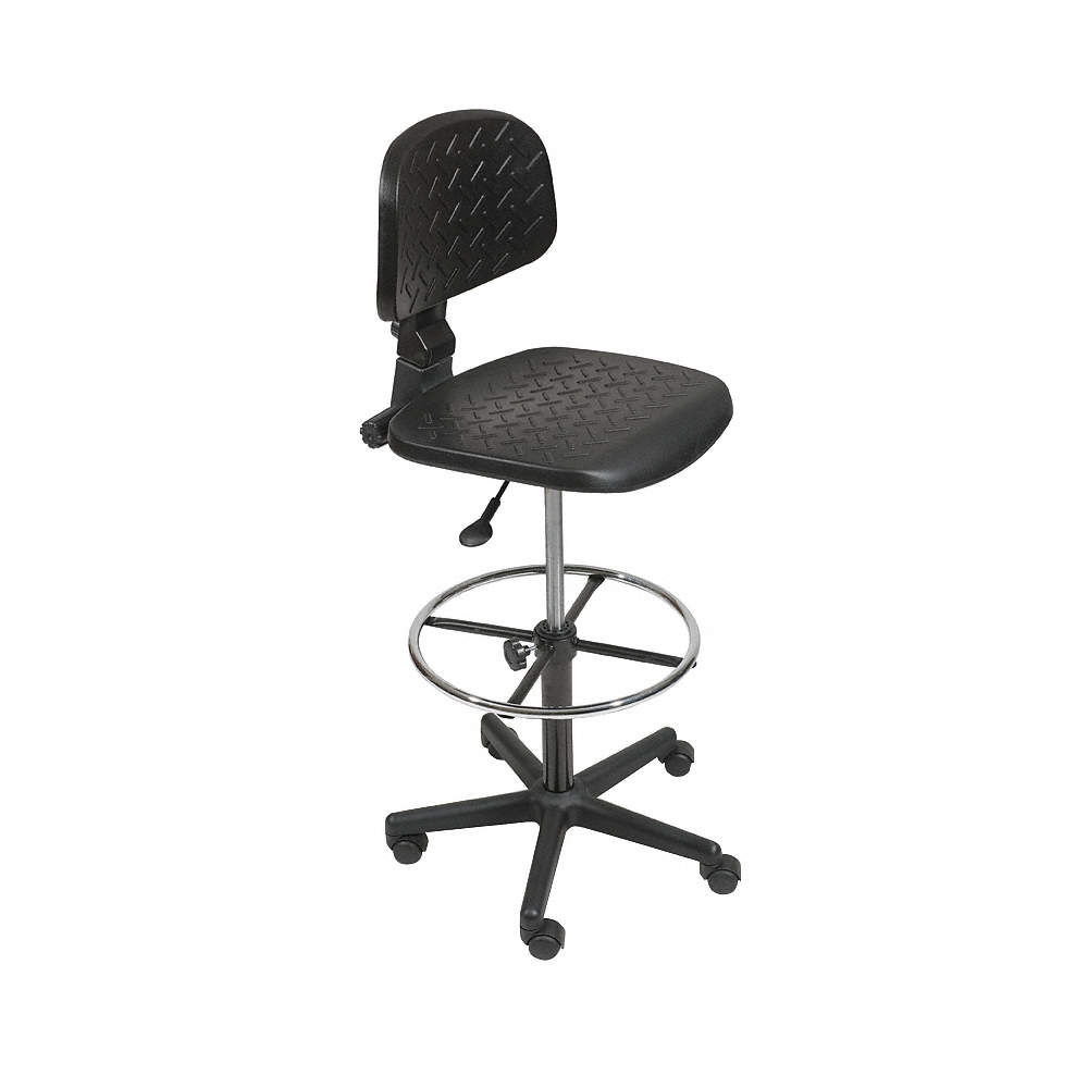 Enjoyable Black Urethane Drafting Chair 11 Back Height Arm Style No Arm Gmtry Best Dining Table And Chair Ideas Images Gmtryco