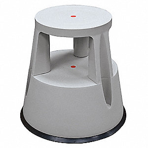 "Plastic Step Stool, 16-1/2"" Overall Height, 330 lb. Load Capacity, Number of Steps 2"