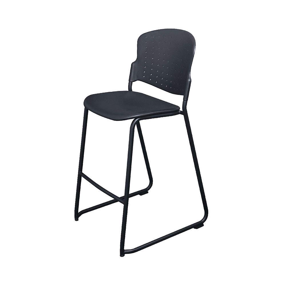 Strange Black Steel Stacking Stool With Black Seat Color 1Ea Uwap Interior Chair Design Uwaporg