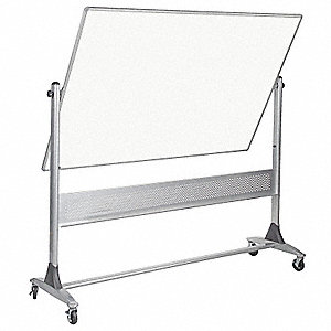 "Mobile Reversible Boards, Magnetic Porcelain Steel, 72"" Width, 48"" Height"