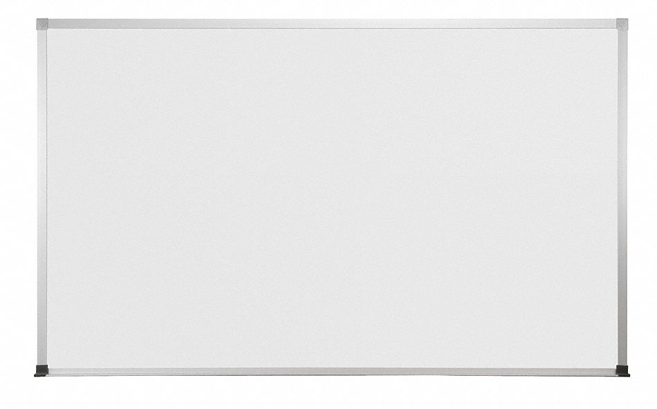 Gloss-Finish Melamine Dry Erase Board, Wall Mounted, 36 inH x 60 inW, White