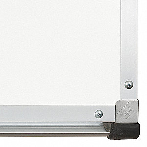 "Gloss-Finish Porcelain Dry Erase Replacement Panel, Wall Mounted, 48""H x 144""W, White"