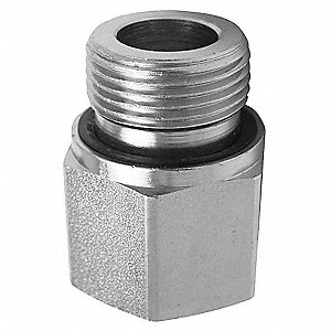 "316 Stainless Steel Reducing Adapter, BSPP, 1/2"" x 1/4"" Pipe Size - Pipe Fitting"