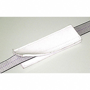 "1 ft. Nylon Wear Pad Flat Quick Sleeve Pukka, 3/4"" Thick, For Sling Width: 1"", White"
