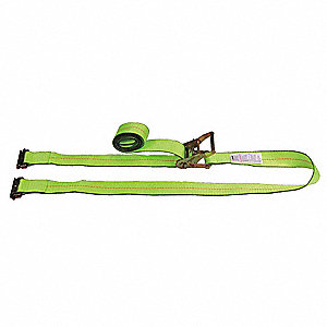 Tie Down Strap, 20 ftL x 2 inW, 1,000 lb Load Limit, Adjustment: Ratchet