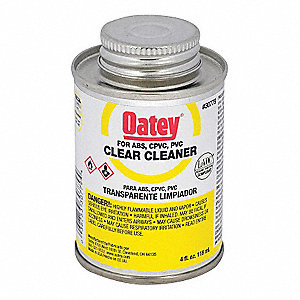 Clear PVC Cleaner, Clare Cleaner, Size 4 , For Use With PVC Pipe And Fittings