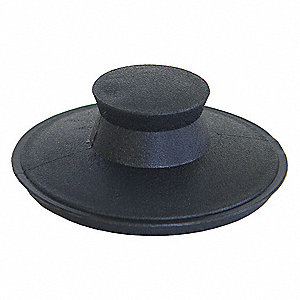 Rubber Disposer Stopper, For Use With Waste Disposers