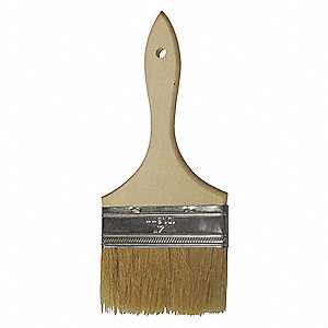 "4"" Flat Sash Synthetic Bristle Paint Brush, Soft, for All Paint & Coatings, 1 EA"