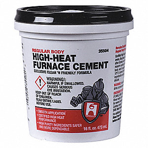 Hercules Furnace Cement High Temperature 1 Pt 39at5935504