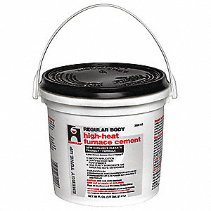 Furnace/Stove Cement,High Temp.,1/2 gal.