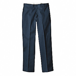 "Men's Work Pants, Polyester/Cotton Twill, Color: Navy, Fits Waist Size: 38"" x 30"""
