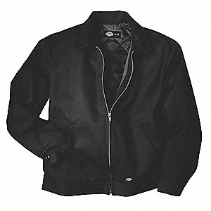 Jacket,Insulated,Poly/Cotton,Black,MT