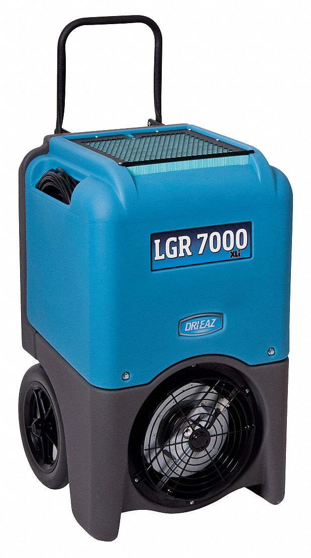 Low-Grain Portable Dehumidifier, 115 V, 8.3 A Amps, Depth 20 in, Width 20 in, Height 33 1/2 in